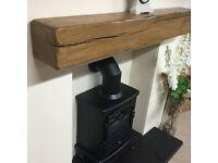 oak beam floating mantle - range of sizes and colours