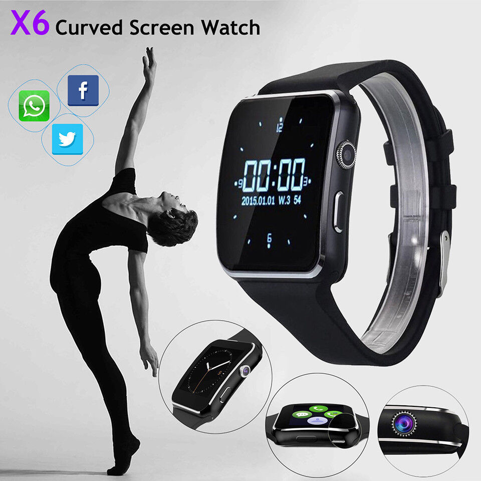 Bluetooth Waterproof Smart Watch Phone X6 Smartwatch Wristwa
