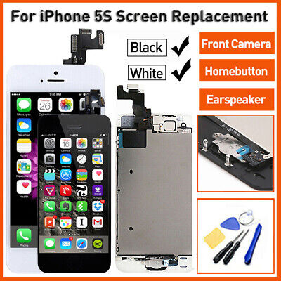 Black / White For iPhone 5S A1533 LCD Touch Screen Replacement Complete Assembly