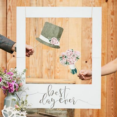 Best Day Ever Giant Polaroid Photo Booth Props Frame Rustic Country Wedding Sign - Polaroid Frame Prop