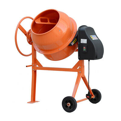 Electric Cement Mixer – Portable Mortar Plaster Concrete Drum Building 120L/140L