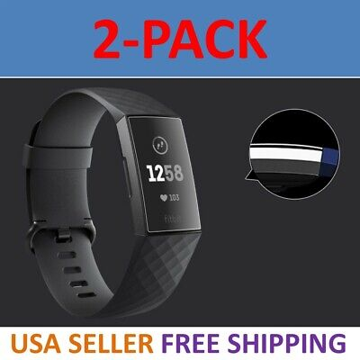 Clear Screen Protector Film (2-Pack Screen Protector PET Full Coverage Clear Film For Fitbit Charge 3 HD  )