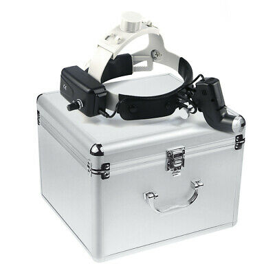 5w Dental Surgical Led Head Light Ent Specific Black Aluminum Box Us Stock