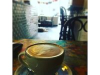 Independent cafe in Belsize Village looking for a part-time waiter/barista