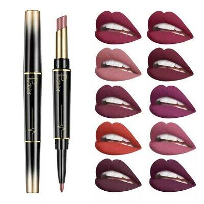 Make-up Matte Lipstick (2in1 Lippenstift Matte Lipliner Wasserfest Lipstick Waterproof Blitzversand)