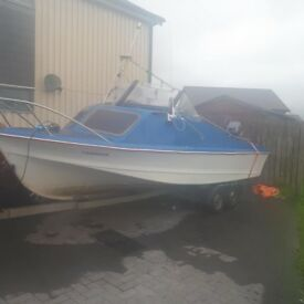 17 foot shetland sheltie 40hp mariner