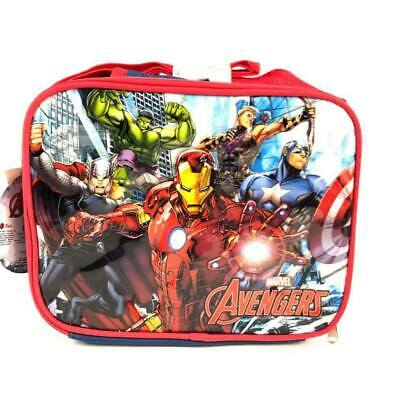 Marvel Avengers Red/Blue Lunch Box Lunch Bag and Adjustable Strap Insulated