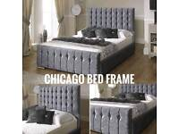 Chicago Bed Frame Various Colours & Sizes At Amazing Prices!
