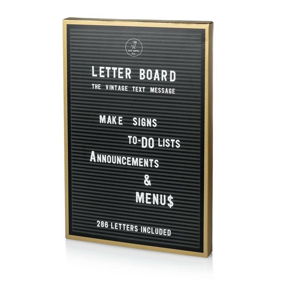 Letter Boards With White And Yellow Letters 3 Available Signage