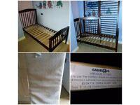Babies R Us Cot Bed 140 x 70 cm & Babies R Us Trio Safe 'n' Sound waterproof Mattress
