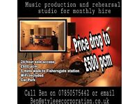 Production studio and large rehearsal space for monthly hire BN41