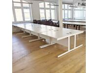 FREE SAME-DAY DELIVERY - White Office Desks 1200mm by 800mm