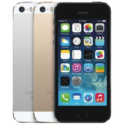 "Apple iPhone 5S 16GB 32GB 64GB ""Factory Unlocked GSM"" 4G LTE iOS Smartphone"