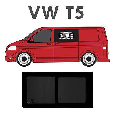 VW T5 Transporter PASSENGER Side Opening Tinted window with FITTING KIT + U TRIM