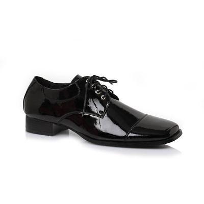 1920 Dress Men (Mens Black Patent Formal Dress Shoes Vintage Wedding 1920s Groomsmen Gatsby 9)