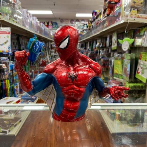 Metallic Color Spider-Man Busted Bank Molded Coin Piggy Bank