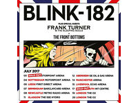 (Under face value) 4 Floor Standing tickets for Blink-182 concert at London O2 on 20th July
