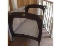 REDUCED - Graco Electra pack and play - plus mattress (travel cot)