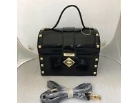 TED BAKER HIGH BLACK GLOSS TRUNK BAG