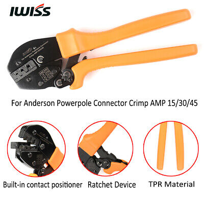 Iwiss Ratchet Crimping Pliers Crimper Tool Amp 153045 For Anderson Connectors