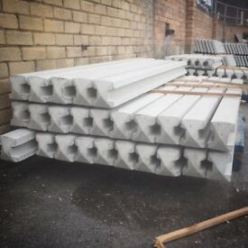7ft Reinforced Concrete Fence Posts