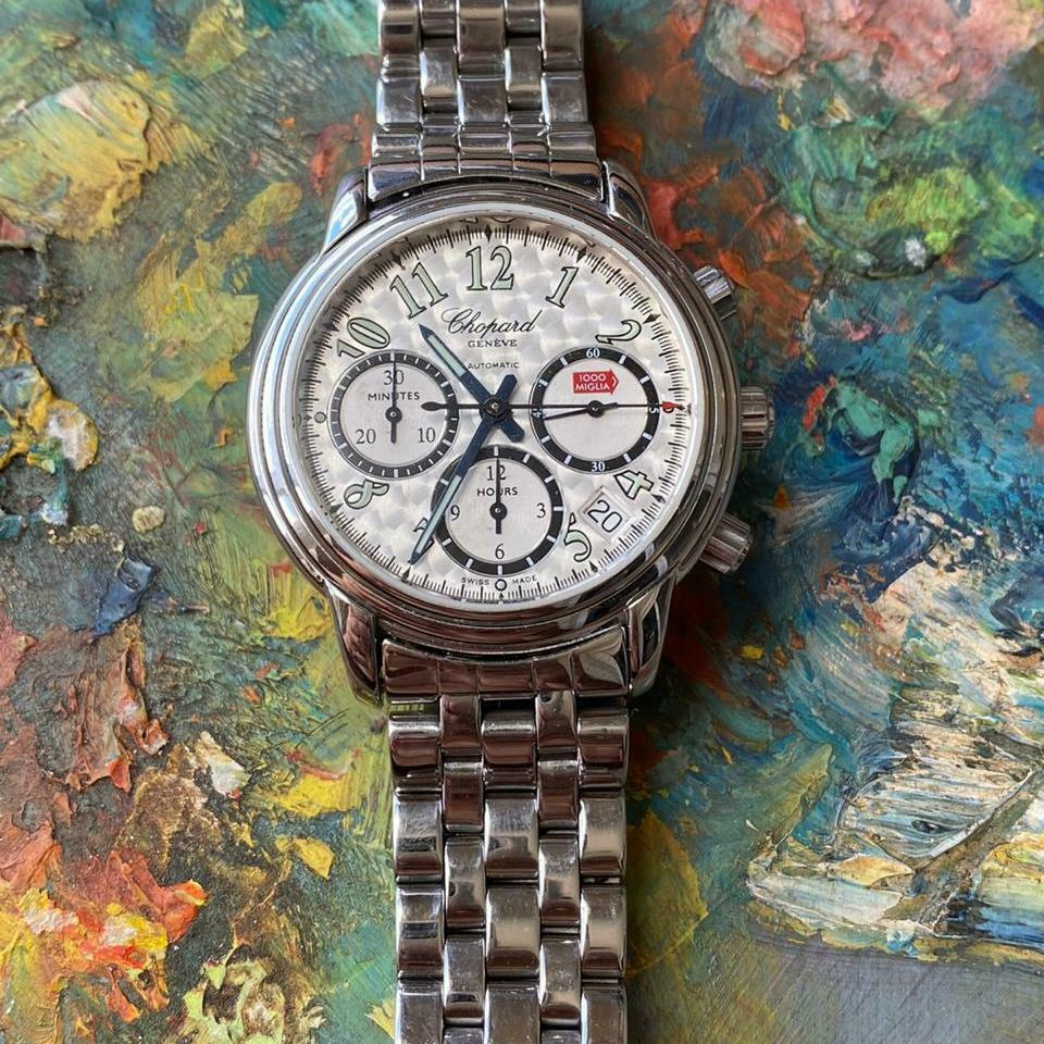 CHOPARD MILLE MIGLIA REFERENCE 8331 CHRONOGRAPH AUTOMATIC WATCH 100% GENUINE - watch picture 1
