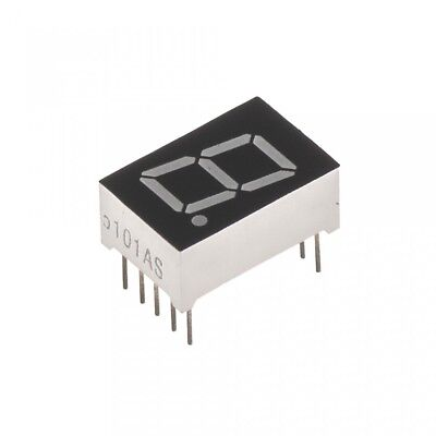 2 Pcs Common Cathode 10 Pin 1 Bit 7 Segment 0.5 Red Led Display Digital Tube Lw