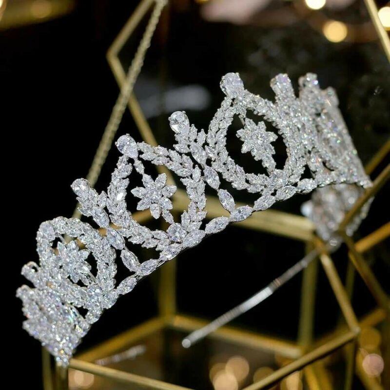 Swarovski Crystals Crown Tiara Wedding Princess