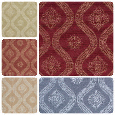 Medallion Upholstery Fabric (Moroccan Medallion Fabric Burgundy Rusty Red Teal Gray Upholstery Drapery IL9 )
