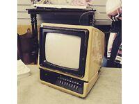 1978 Retro Portable TV Mitsubishi