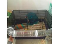 PETS @ HOME MEDIUM HAMSTER CAGE WITH TUBES