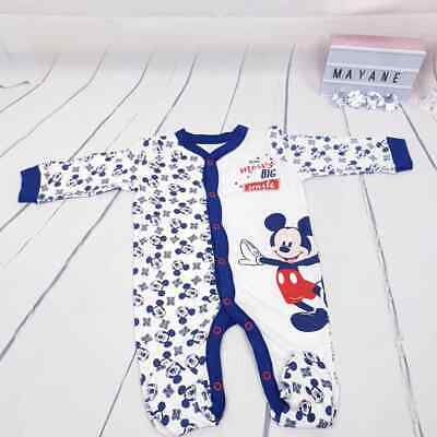Baby Strampler Overall Mickey Mouse Disney 0-3/3-6/6-9/9-12/12-18 Monate