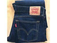 Mens Levis 592 Blue Denim Jeans Waist 30 Leg 33 Blue Levi Strauss VGC
