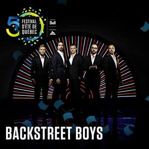 Backstreet Boys 4 billets AVANT SCENE ARGENT