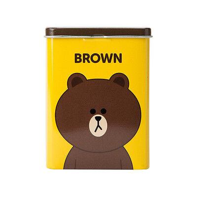Korea Line Friends Brown Character Band Aid Bandage 40 Sheets Tin Case Naver App