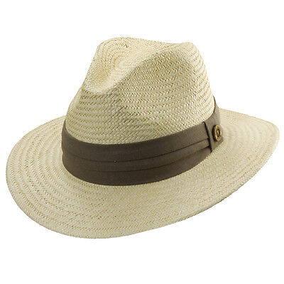 Golf Fedora (TOMMY BAHAMA * MEN PANAMA FEDORA HAT * NEW SUMMER SUN SHADY SAFARI STRAW GOLF)