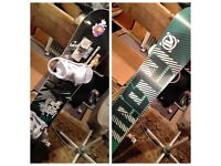 Flow merc snowboard and Rome bindings NEVER USED