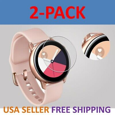 Clear Screen Protector Film (2-Pack Screen Protector TPU Clear Film for Samsung Galaxy Watch Active 40mm )