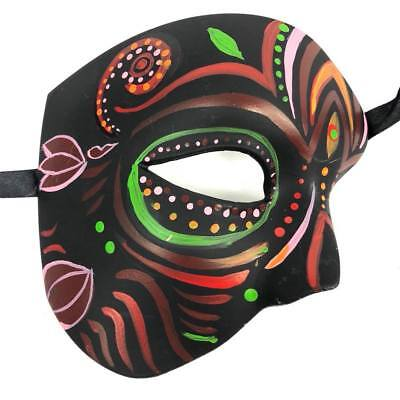 Day of the Dead Black with unique Style Half Face Halloween Women Phantom Mask (Half Dead Face Halloween)