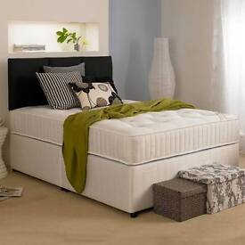 Massive Savings Brand New White Fabric Divan Beds (Single/Double/King-size) Quick Delivery!