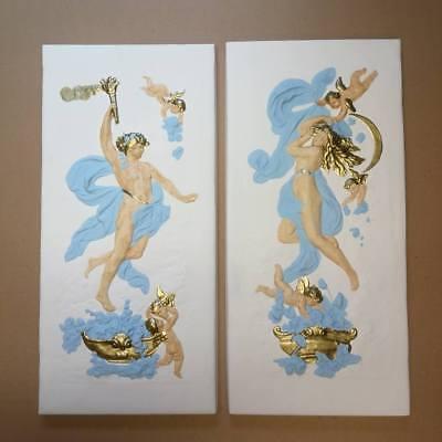 2 X Relief Venus Prometheus Groß Griechische Skulptur Stuck gips Wandrelief Bild
