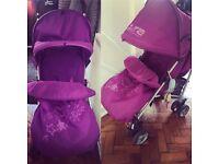 Baby purple stroller
