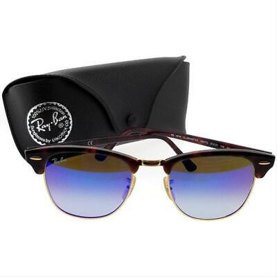AUTHENTIC RAY BAN 3016 CLUBMASTER-RED-HAVANA/BLUE FLASH GRAD (Cheap Ray Ban Clubmaster Glasses)