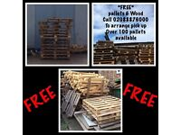 FREE PALLETS AND WOOD TO GIVE AWAY IN EDMONTON N18