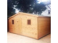 BRAND NEW UNWANTED 16X10 19MM CHALET SHED COST £1715 TAKE £1295