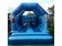 Frozen bouncy castle with fixed rain cover to hire £40 weekdays £50 weekends