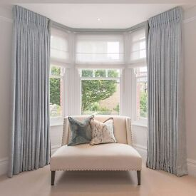 Bespoke curtain and Roman blind making service.