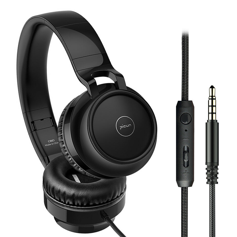 3.5mm Wired Headset Gaming Over-ear Earphones Super Bass Mus