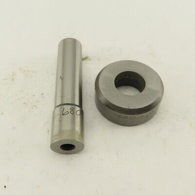 .680 .010 Round Hole Die Cnc Turret Punch Shank .625 Lot Of 2