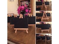 Mini easels and canvases
